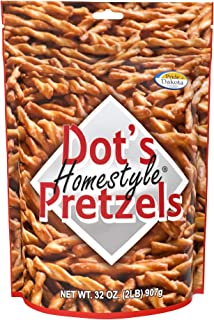 Dot's Homestyle Pretzels 2 lb. Bag (3 Bags) 32 oz. Seasoned Pretzel Snack Sticks (Packaging May Vary)