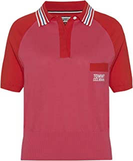 Tommy Jeans Polo T-Shirt for Women, Size Medium, Cotton