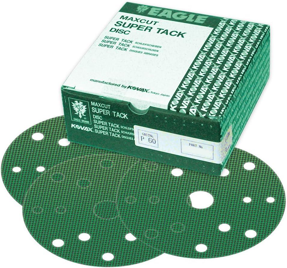 Eagle 569-0080 - 6 low-pricing inch Max 51% OFF Maxcut SUPER-TACK Holes 15 Gri Discs