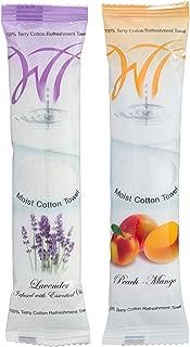Moist Cotton Towel - Lavender and Peach-Mango (Case of 100)