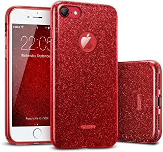 ESR iPhone 7 Case,Glitter Sparkle Bling Case [Three Layer] for Girls Women..