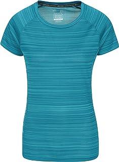 Mountain Warehouse Camiseta Endurance para Mujer - Top de Verano IsoCool para Mujer, Camiseta con protección Solar UV UPF3...