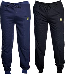 VIMAL JONNEY Men's Poly Cotton Trackpants - Pack of 2