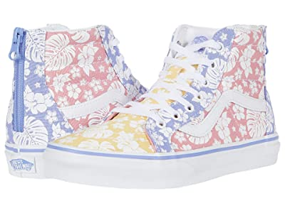 Vans Kids SK8-Hi Zip (Big Kid) ((Hawaiian Floral) Multi/True White) Girls Shoes