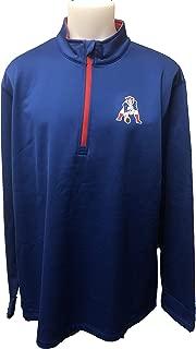 Majestic Athletic New England Patriots Men's Retro Across The Scoreboard 1/2 Zip Fleece Jacket