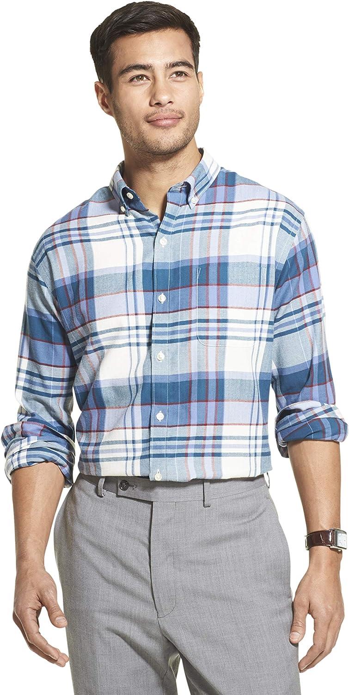 Selling Van Heusen Men's New Free Shipping Flex Long Sleeve Shir Button Plaid Down Stretch