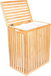 BirdRock Home Clothes Spa Laundry Hamper | Made of Natural Bamboo