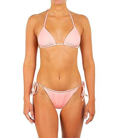 Hurley Solid Slider Tie Side Cheeky Bikini Bottoms