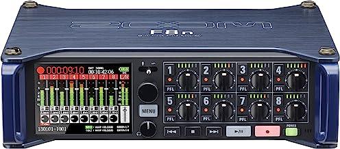 Zoom F8n Professional Field Recorder/Mixer, Audio for Video, 24-bit/192 kHz Recording, 10 Channel Recorder, 8 XLR/TRS Inpu...