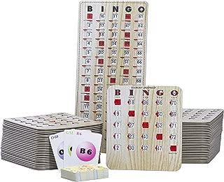 MR CHIPS Jam-Proof Bingo Cards with Sliding Windows, 25 or 50 Bingo Shutter Cards, 75 Bingo Calling Cards, 1 Bingo Master Board