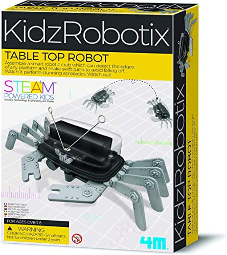 4M 5576 Table Top Robot - DIY Robotics Stem Toys, Engineering Edge Detector Gift for Kids & Teens, Boys & Girls (Pack...