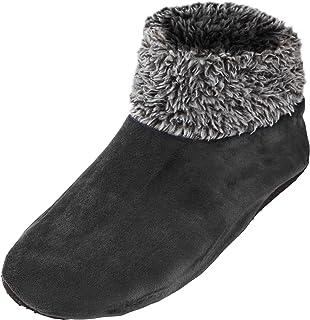 3211d2d3e65 Leisureland Womens Sherpa Lined Knit Winter Fleece Cozy Slipper Socks