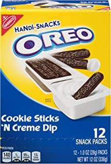 OREO Handi-Snacks Cookie Sticks 'n Creme Dip, 12 Snack Packs