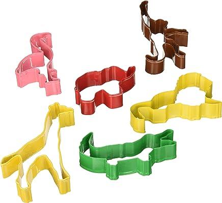 featured product R&M International 1824 Safari Animal Cookie Cutters,  Lion,  Elephant,  Monkey,  Alligator,  Flamingo,  Giraffe,  6-Piece Set