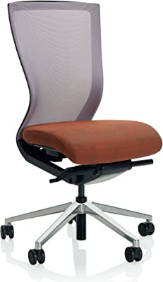 KI Altus Mesh Back Armless Task Chair, Aluminum 5 Star Base, Hard Floor Casters