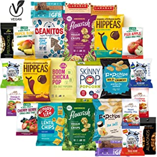 Healthy Snacks Sampler, Gluten Free and Vegan, Premium Nutritious Food Treats Care Package by Variety Fun (25 Count)