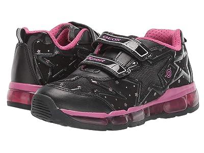 Geox Kids Jr Android 24 (Little Kid/Big Kid) (Black/Pink) Girls Shoes