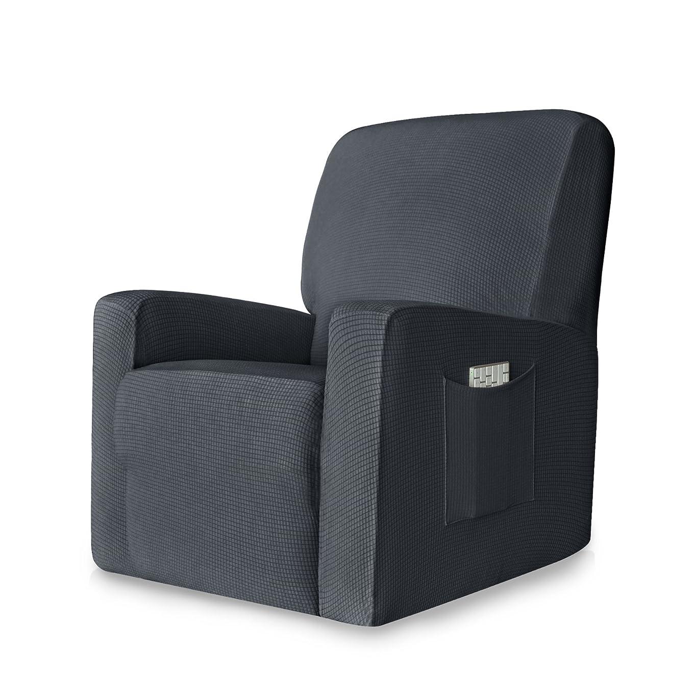 概念代わりにを立てる近代化する(Recliner, Gray) - CHUN YI 1-Piece Stretch Spandex Jacquard Recliner Chair Slipcovers (Recliner, Grey)