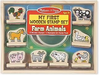 Melissa & Doug 2390 My First Wooden Stamp Set - Farm Animals