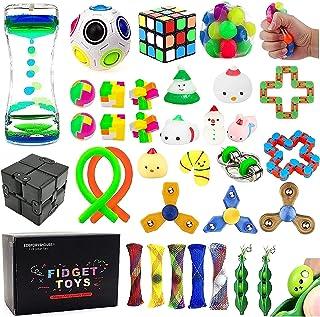 EDsportshouse 32 Pack Sensory Fidget Toys Set Stress Relief Kits for Kids Adults, Stocking Stuffers,School Classroom Rewar...