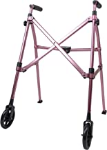 Able Life Space Saver Walker, Lightweight Folding 2 Wheel Rolling Walker for Seniors with..