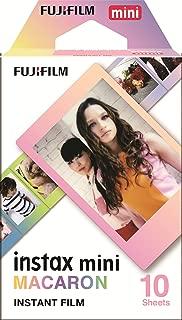 FUJIFILM インスタントカメラ チェキ用フィルム 10枚入 絵柄 (マカロン) INSTAX MINI MACARON WW 1