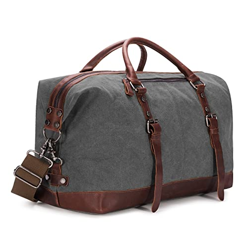 52a25ef63a BAOSHA HB-14 Oversized Canvas Weekender Bag Travel Carry On Duffel Tote Bags  Weekend Overnight
