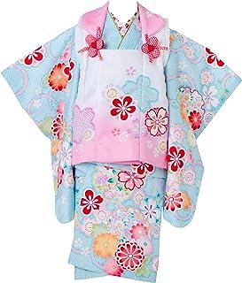 七五三 着物 3歳 被布セット 日本の晴着 陽気な天使 ブルー 3400-00113