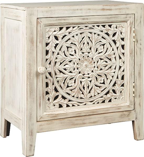 Ashley Furniture Signature Design Fossil Ridge Accent Cabinet White