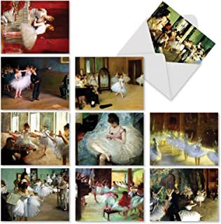 10 Ballet-Themed Note Cards w/Envelopes, 'Notes Tutu You' Blank Greeting Cards for All Occasions, Assorted Stationery for Weddings, Baby Showers, Birthdays, Thank Yous 4 x 5.12 inch M9684OCB