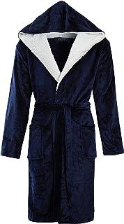 STONEBRIDGE Mens Super Soft Men Dressing Gown Hooded Bathrobe