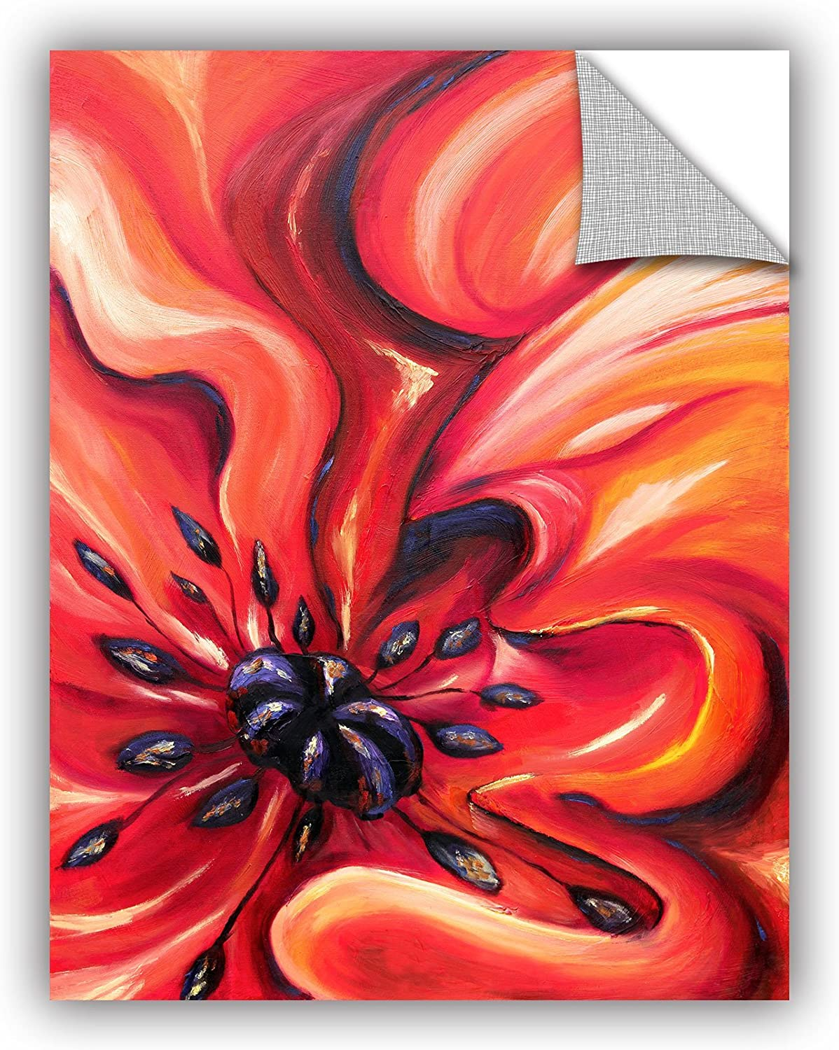 ArtWall 0tro031a1418p Meaghan Troup's Consuming Fire  Removable Wall Art Mural, 14-Inchx18-Inch