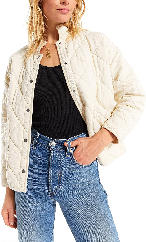 Maya Quilted Jacket in Bone by Z Supply ZJ203646