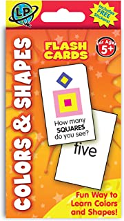 Eureka Colors and Shapes Flashcards for Kids, 3.4'' W x 5.6'' H