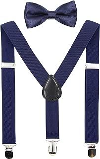 Kids Suspenders Bowtie Sets Adjustable Suspender Set for...
