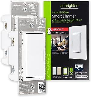 Enbrighten Z-Wave Smart Rocker Light Dimmer with QuickFit...