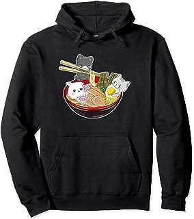 Kawaii Japanese Anime Cat Hoodie Bowl Ramen Noodle Gift Top