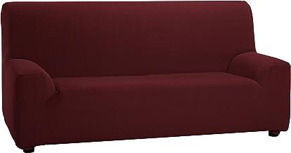 Martina Home Tunez - Funda elástica para sofá, Burdeos, 2 Plazas (120-190 cm)