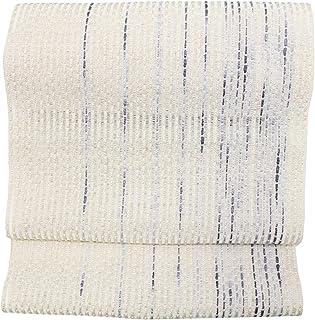米沢織 すくい織 八寸帯 おしゃれ八寸 流星 夏帯 八寸名古屋帯 未仕立て品