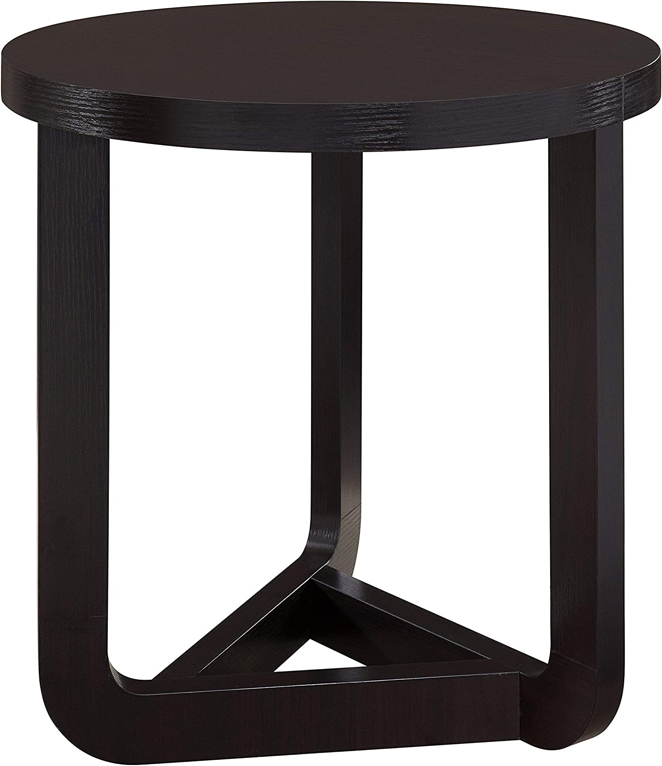 Furniture of America Hovacs Modern Round End Table, Cappuccino