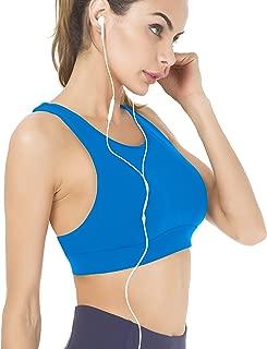 Women's Medium Support Back Pocket Energy Sport Bra Cotton Feel 70927