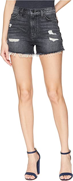 Hudson Sade Lace-Up Cut Off Shorts in Mercury