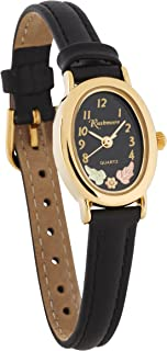 Gorgeous! Black Hills Gold Two 12K Gold Leaves Black Face Women's Watch