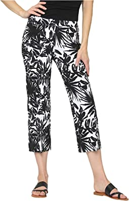 Maldives Jacquard Pull-On Cropped Trouser Pants