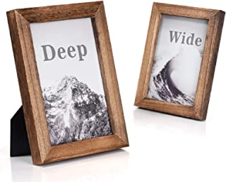 Emfogo Picture Frames 5×7 Solid Wood Photo Frames and High Definition Glass Display..