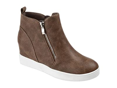 Journee Collection Pennelope Sneaker Wedge (Brown) Women