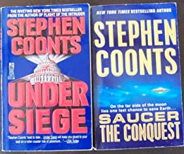 Lot 2 Stephen Coonts Paperback (Under Siege & Saucer the Conquest)