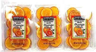 Trader Joe's Sweetened Dried Orange Slices, 5.3 oz / 150 g (Pack of 3)