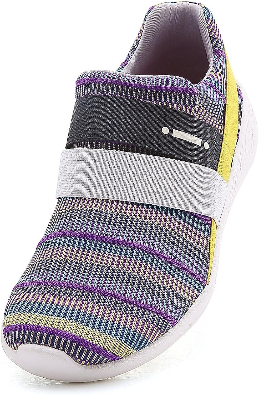 UIN Women's Porto Knit Comfort color Walking shoes Purple