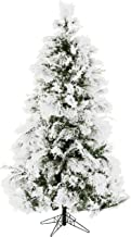 Fraser Hill Farm FFSN075-0SN Flocked Snowy Pine Artificial, 7.5